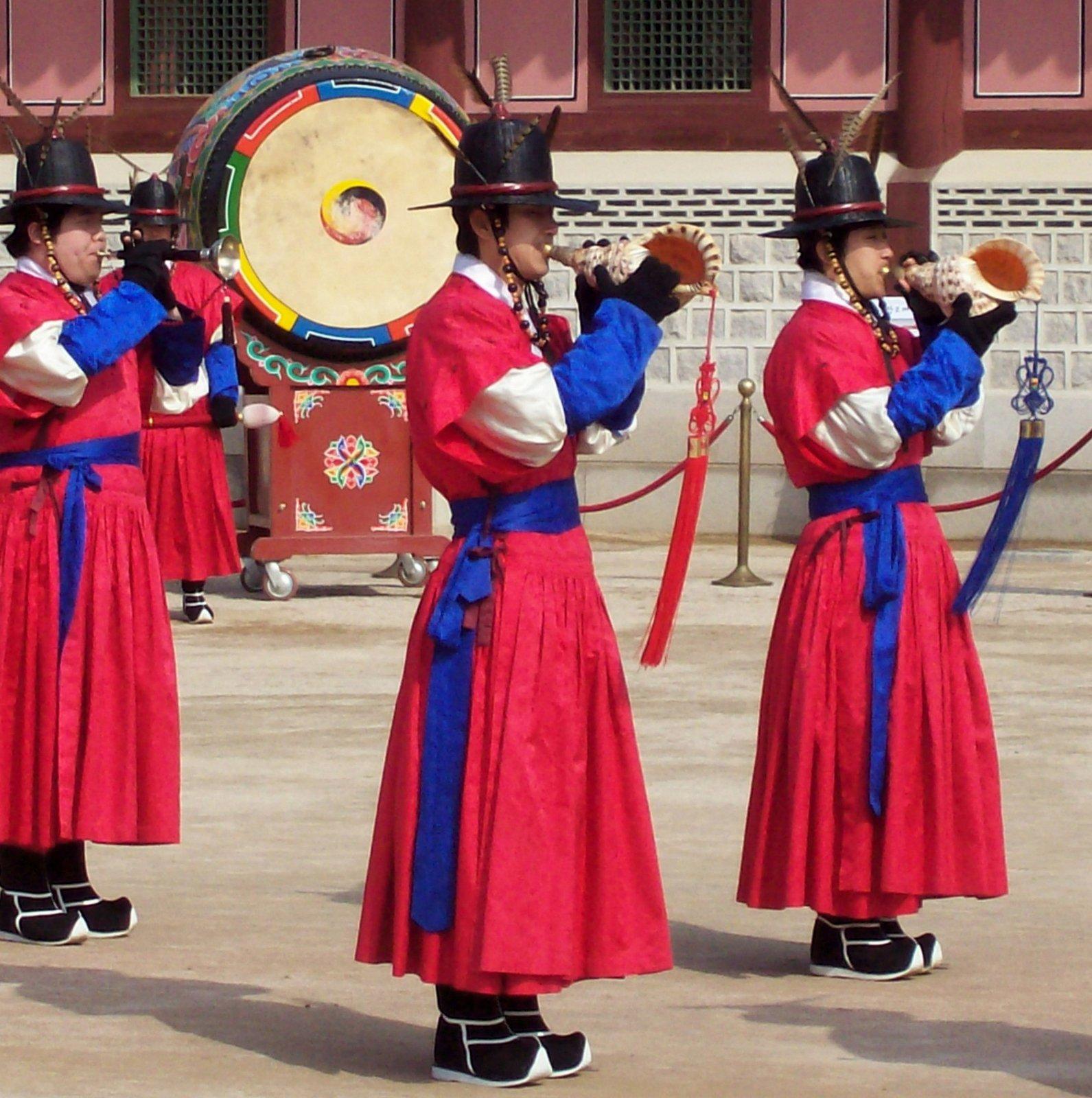 Wachwechsel im Gyeongbokgung Palast