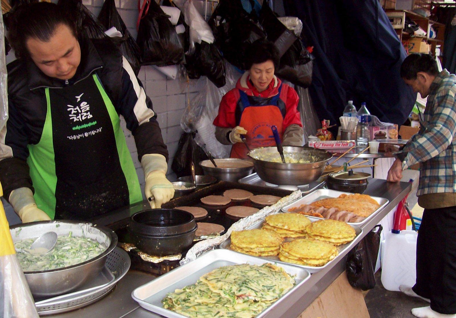 Verkaufsstand für koreanische Omeletts