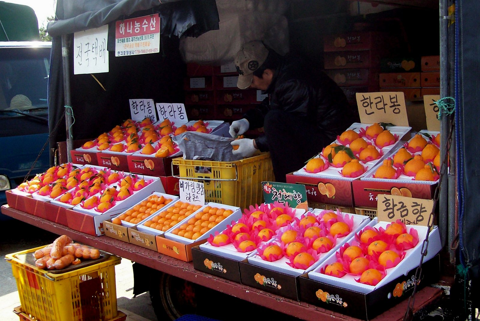 Obststand im Süden von Jeju