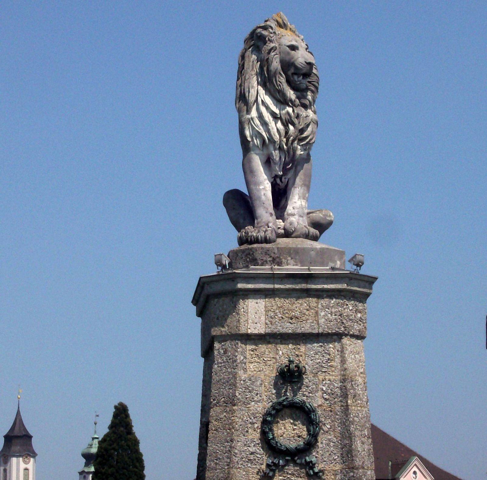 Der bayrische Löwe in Lindau am Bodensee