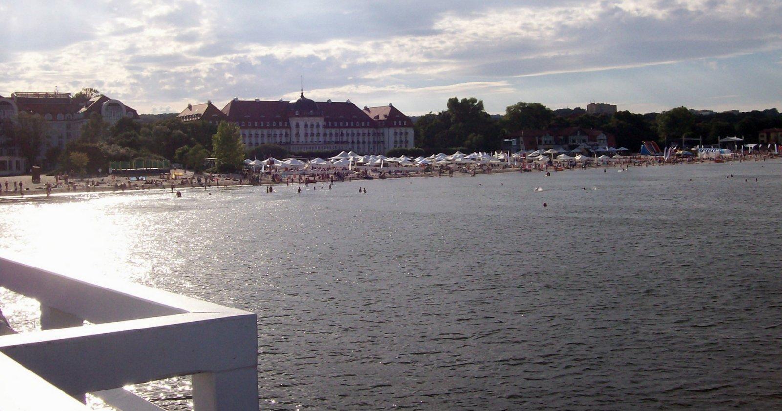 Strand mir Grand Hotel Zoppot - Polen