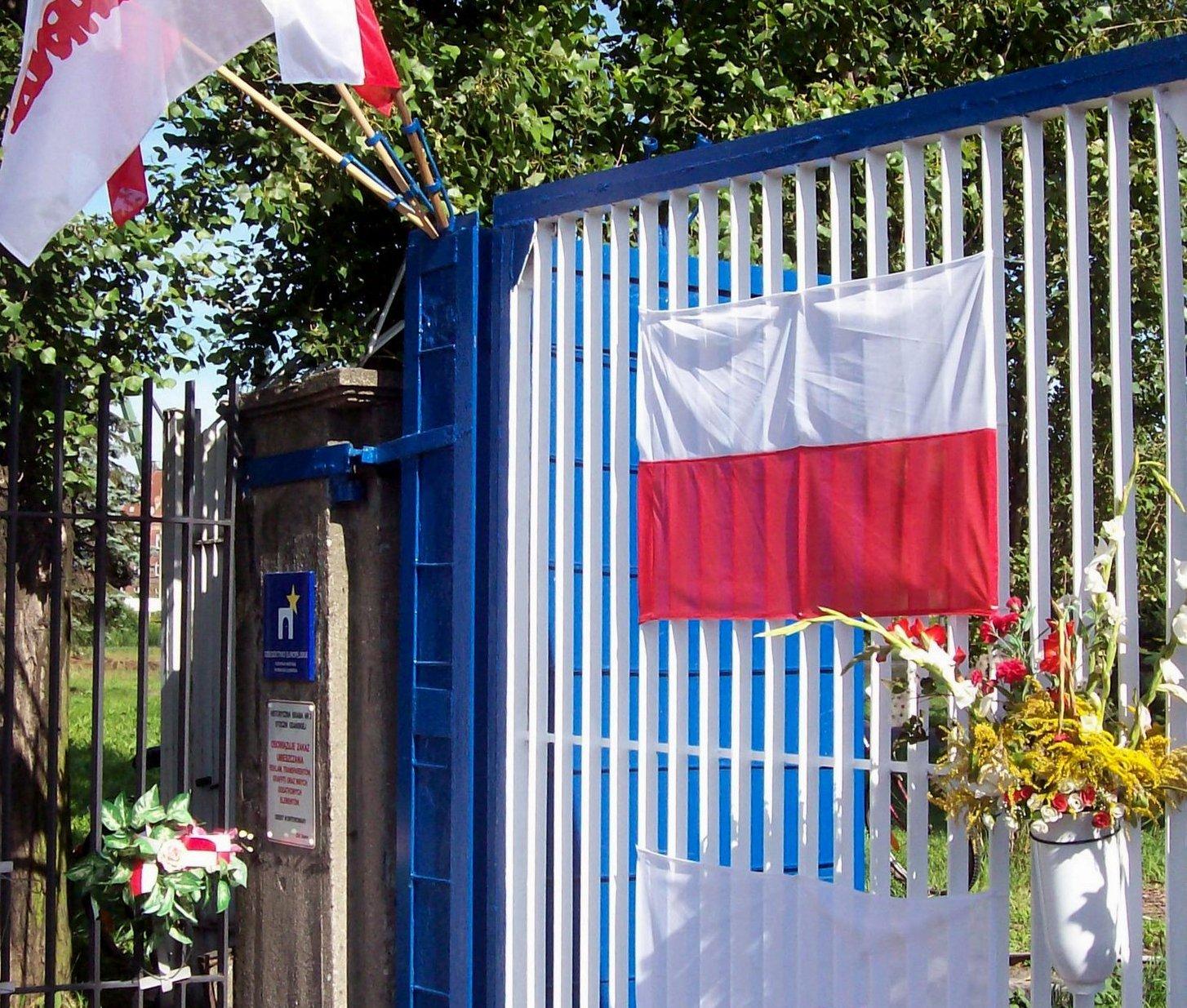 Zaun an der Leninwerft Danzig