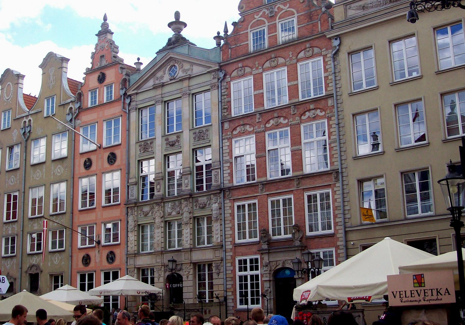 Auf dem Langen Markt in Danzig
