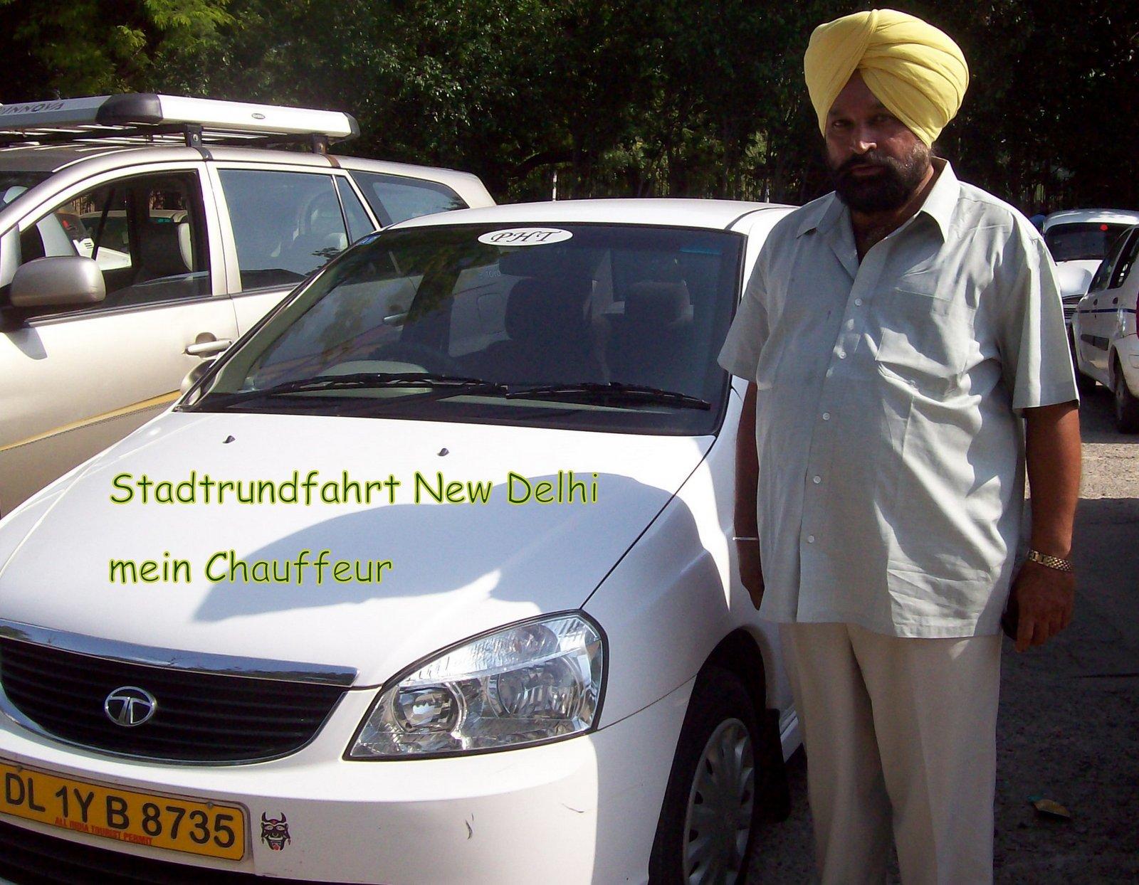 Stadtrundfahrt mit dem Taxi in New Delhi