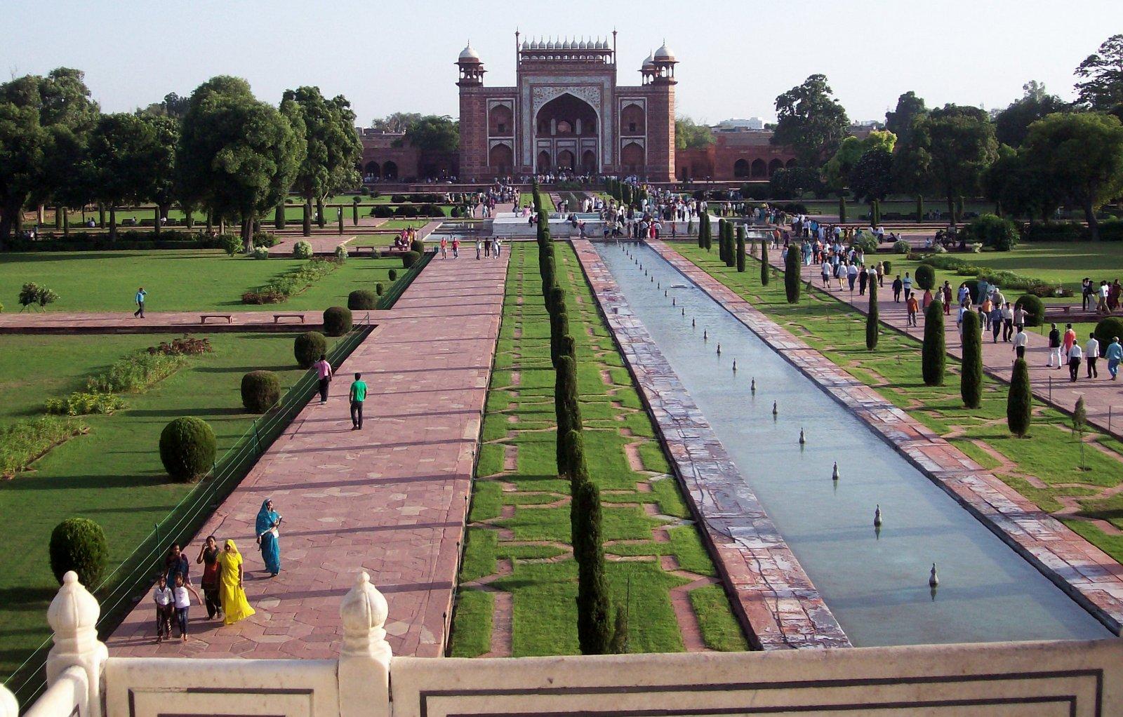 Gartenanlage - Taj Mahal
