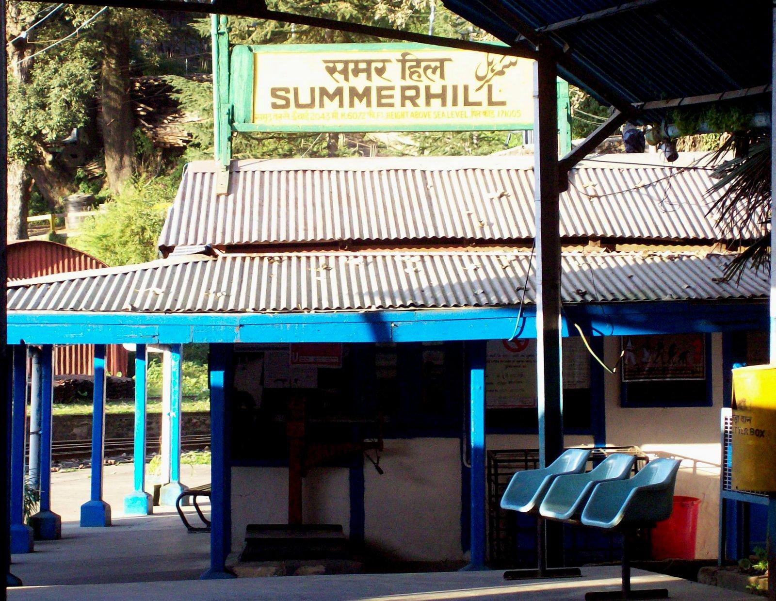 Kalka - Shimla Bahn - Bahnhof Summerhill