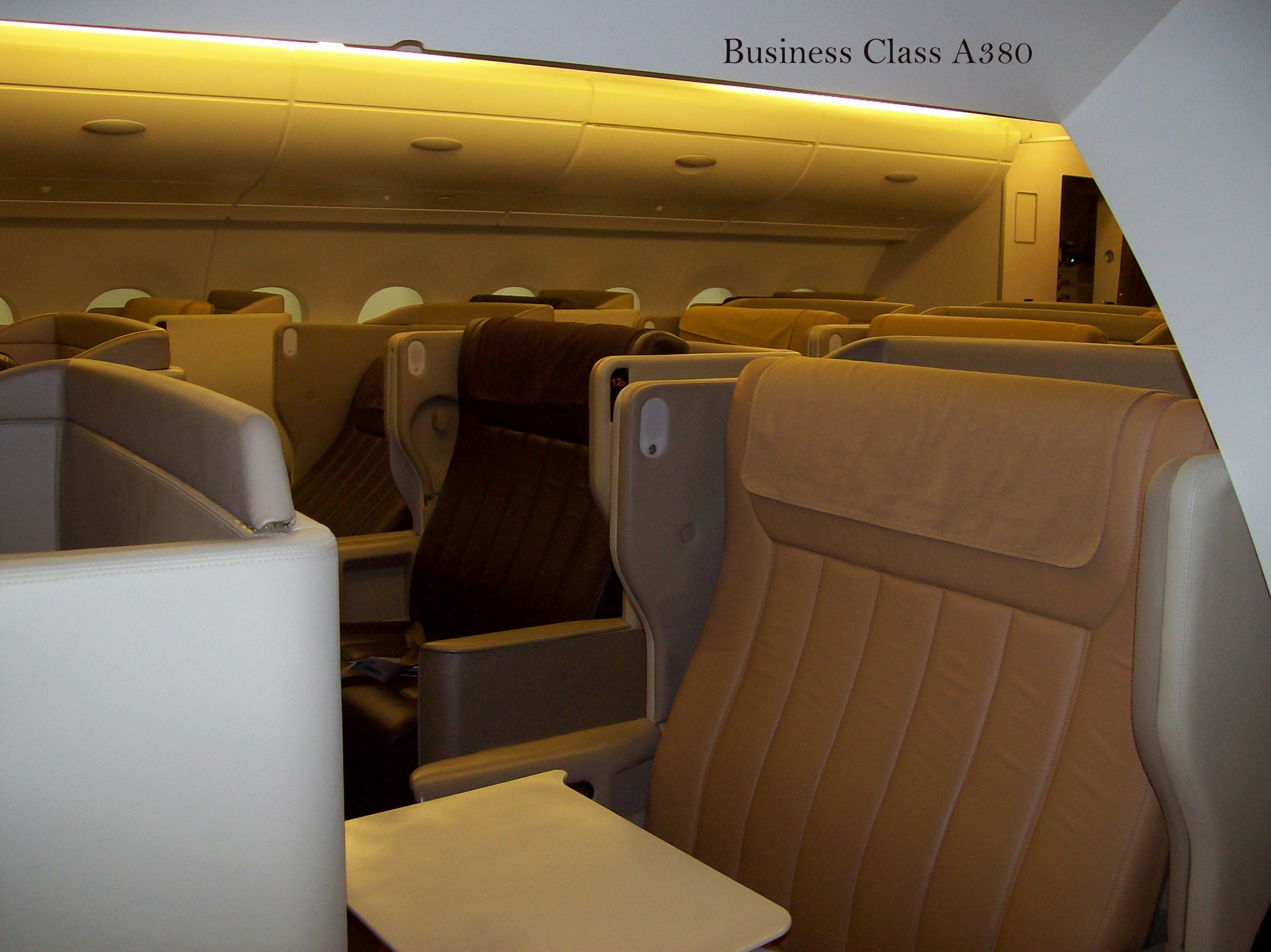 Singapore Airlines A 380 Business Class