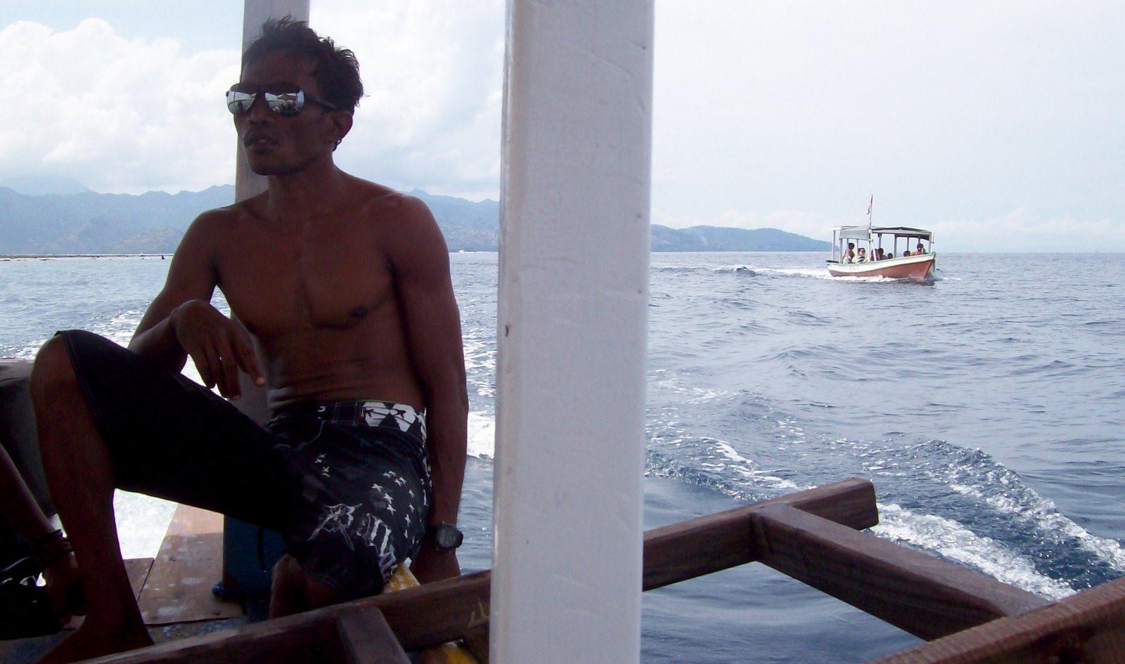 Bootsführer auf den Gili Inseln