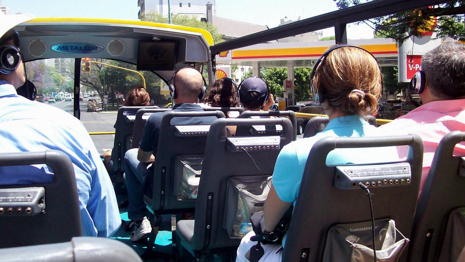 Rundfahrtenbus in Buenos Aires