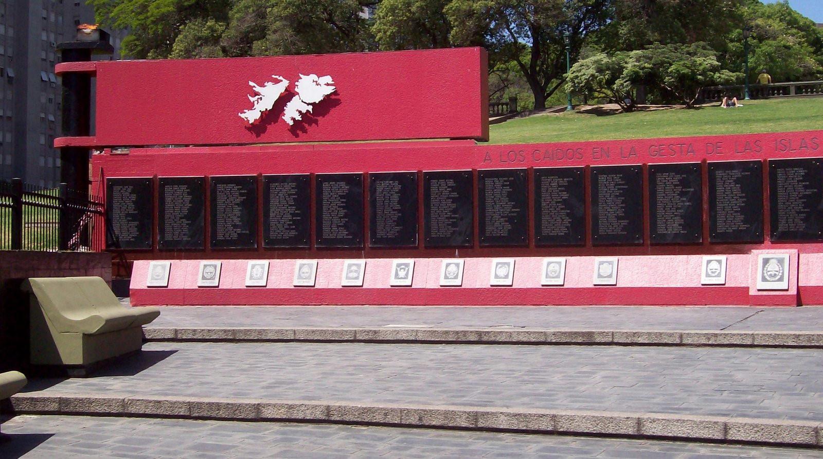 Denkmal für dieGefallenendes Krieges um die Falkland-Inseln (Malvinas) von 1982 - Buenos Aires