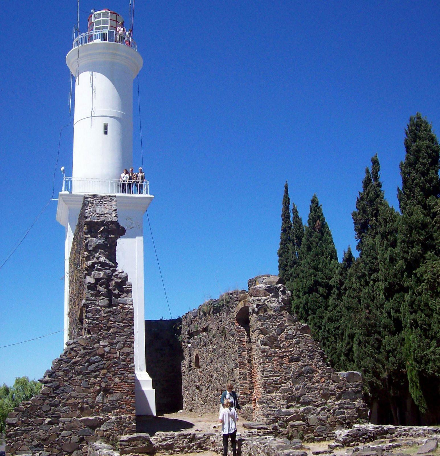 Leuchtturm von Colonia del Sacramento am Rio de la Plata