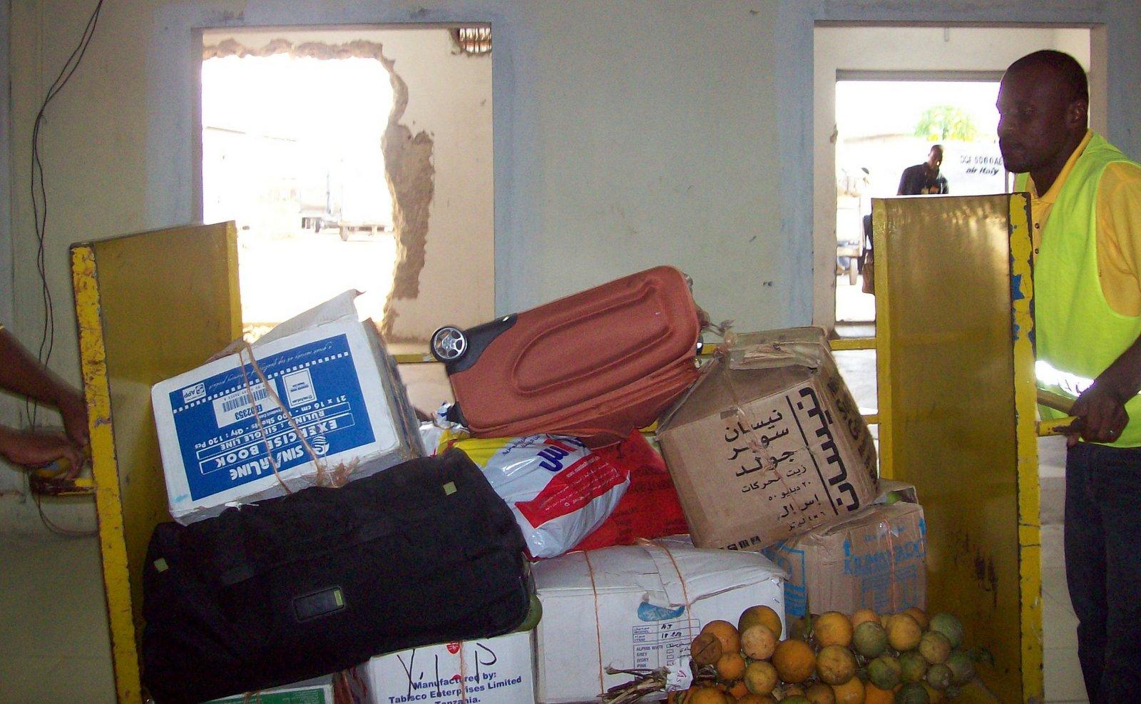 Flughafen Sansibar - Gepäckausgabe