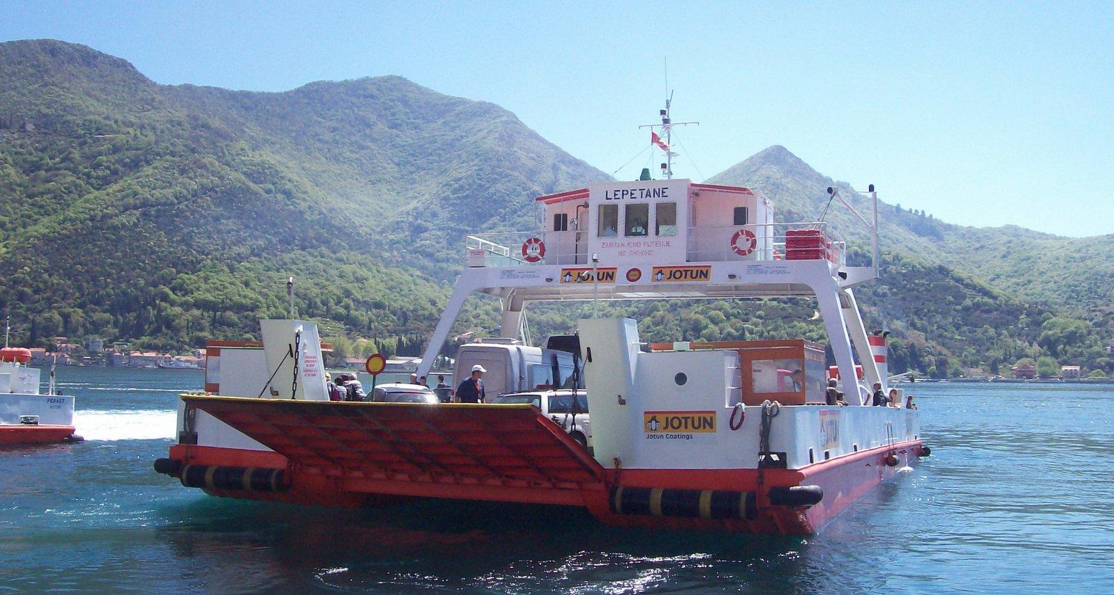 Fähre Kamenari nach Leptani - Montenegro