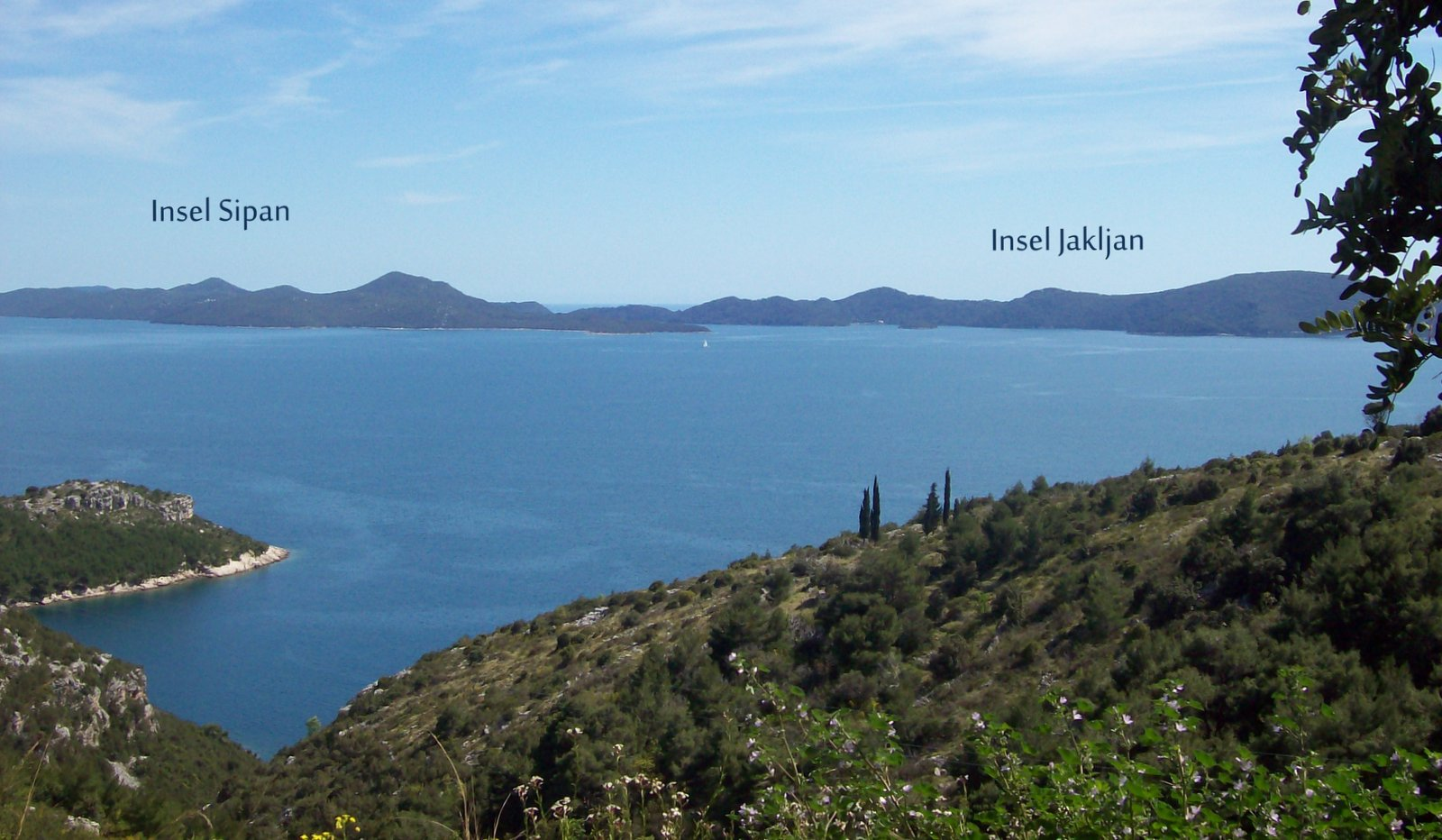 Inseln Sipan und Jakljan in Dalmatien