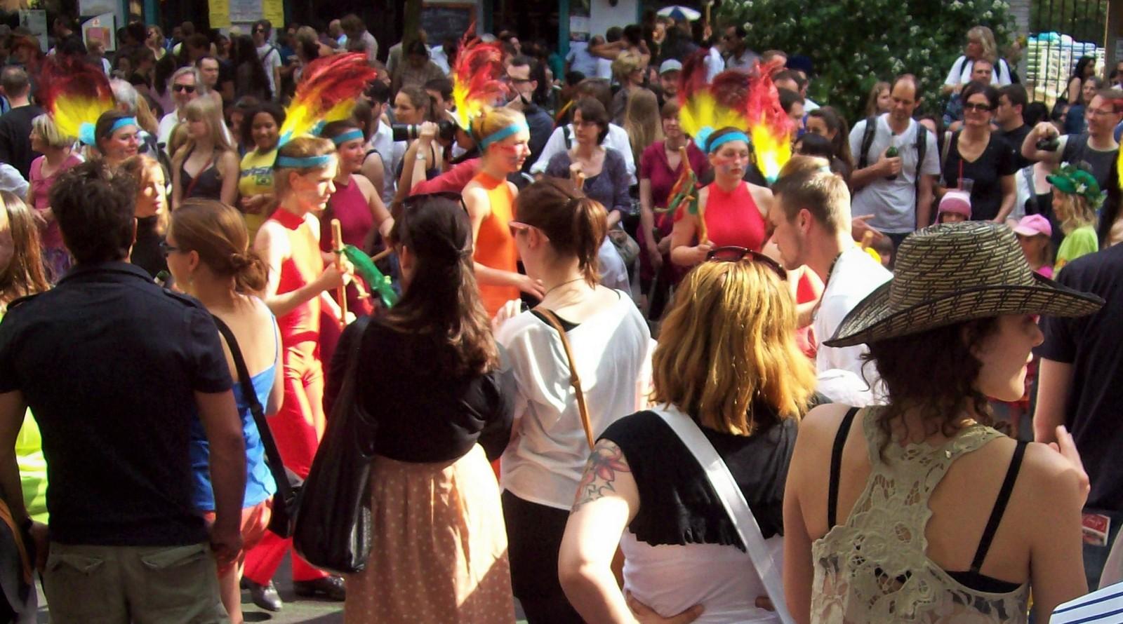 Karneval der Kulturen in Kreuzberg.