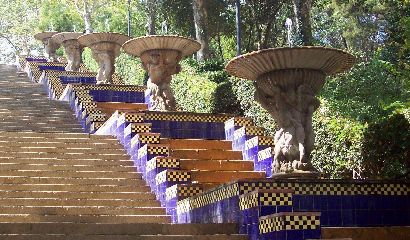 Wasserspiele am Palau Nacional