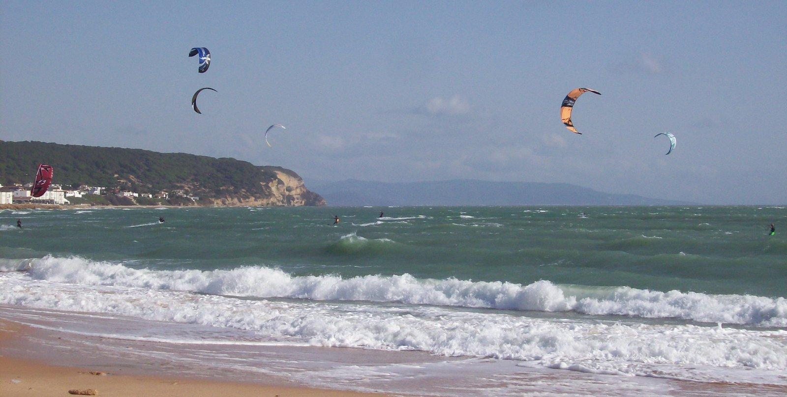 Kite Surfer am Cabo de Trafalgar