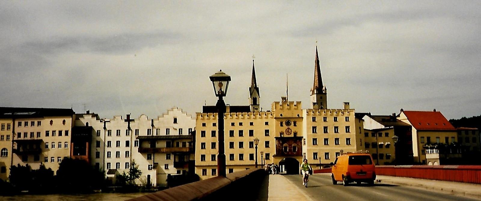 Rote Brücke in Wasserburg am Inn