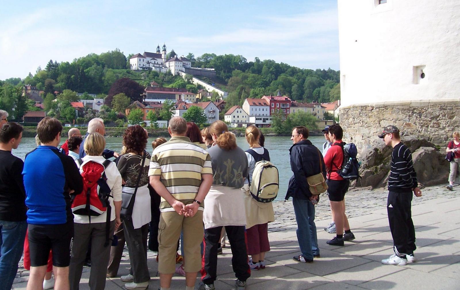 Blick auf Mariahilf in Passau