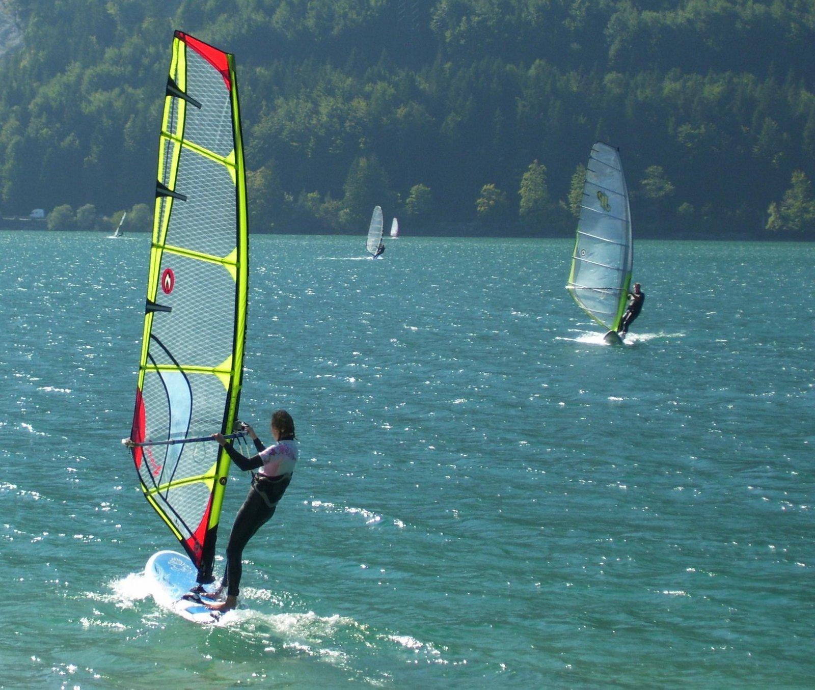 Windsurfer auf dem Walchensee