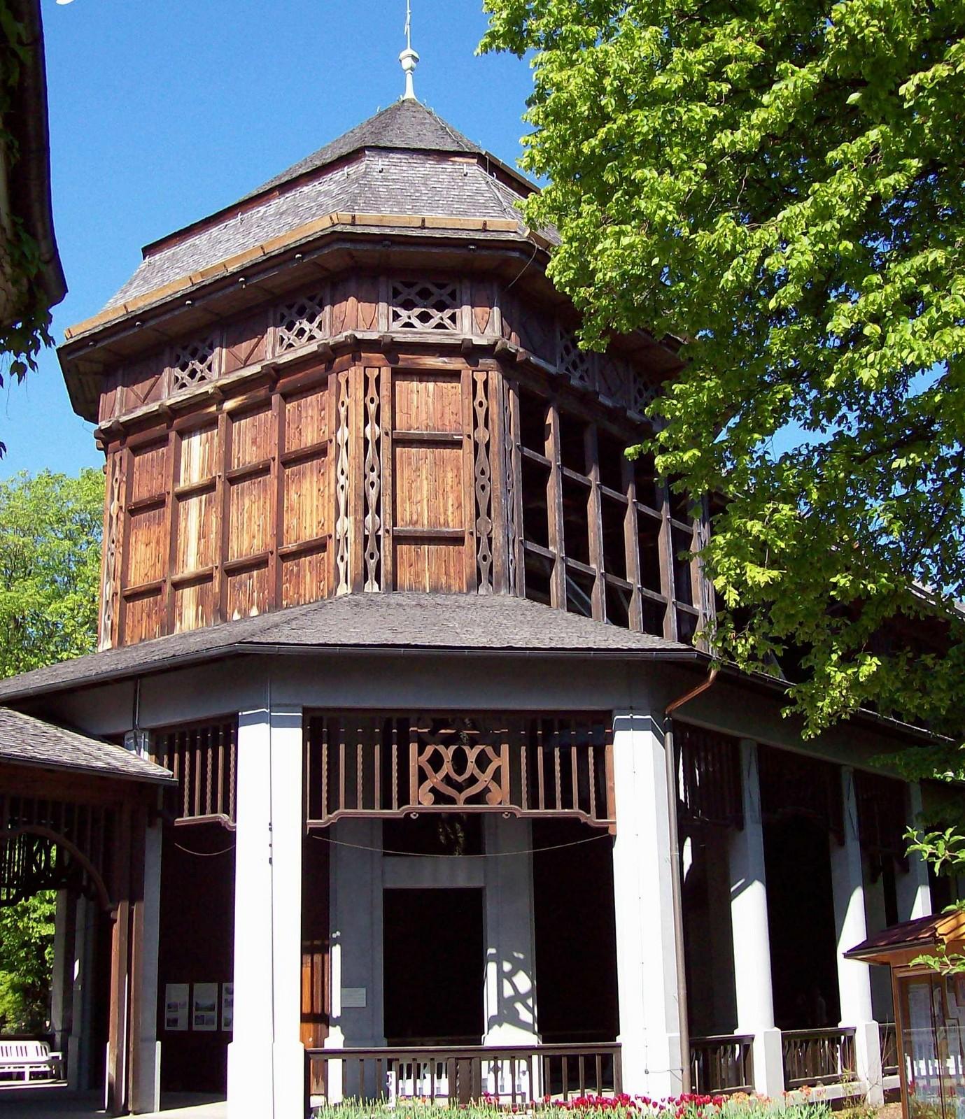 Gradierhaus im Kurpark von Bad Reichenhall