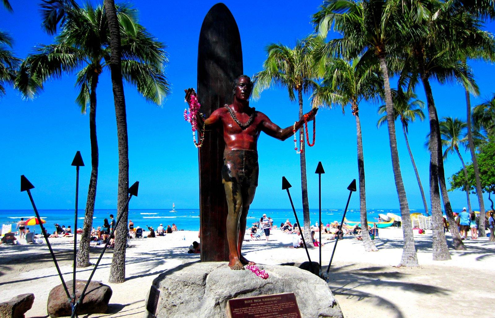 Denkmal für Duke Kahanamoku - Waikiki Beach