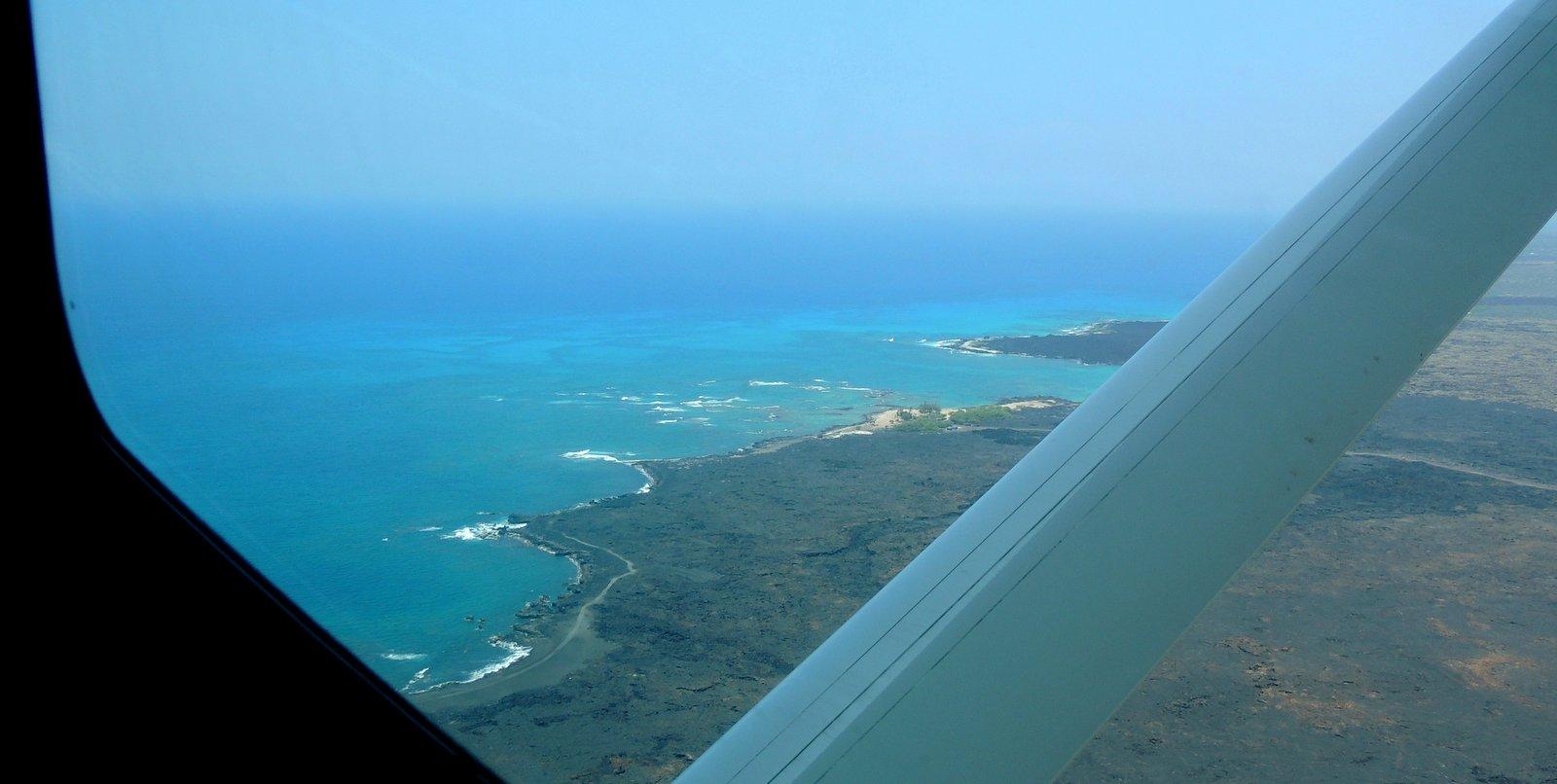 Flug von Kona auf Hawaii nach Maui