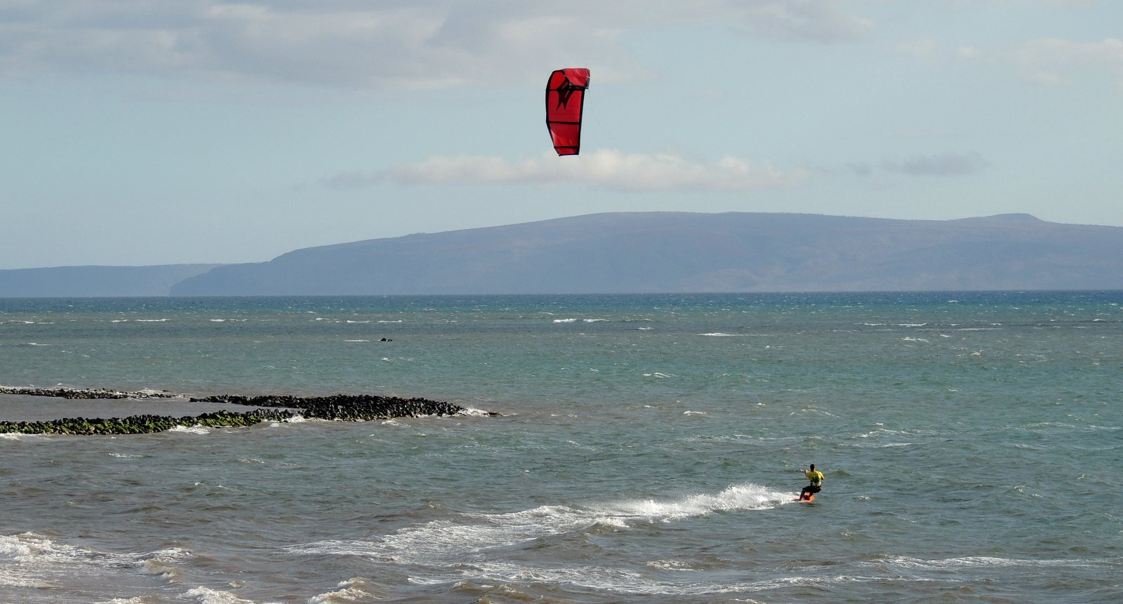Kite-Surfer vor Kihei - Maui
