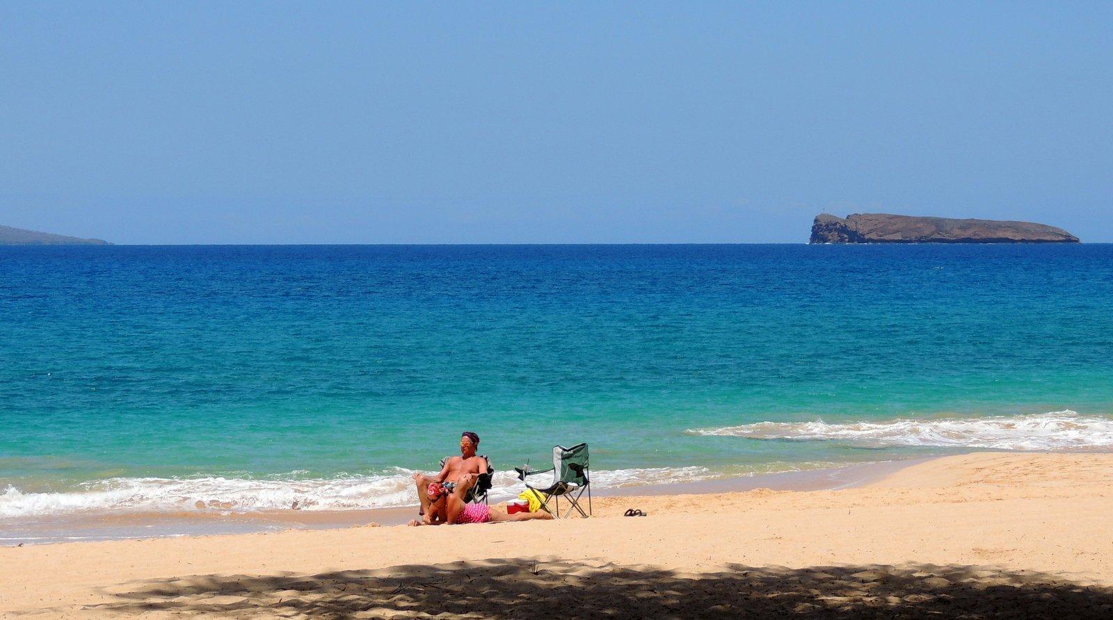 Maui - Makena Beach mit Blick auf die Insel Molokini