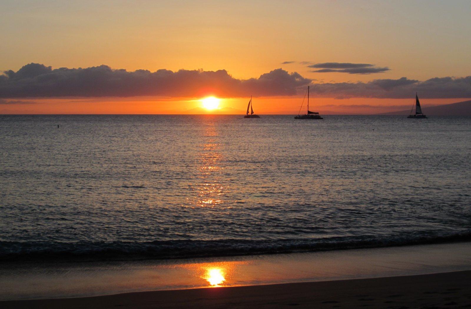 Sonnenuntergang am Kaanapali Beach - Maui