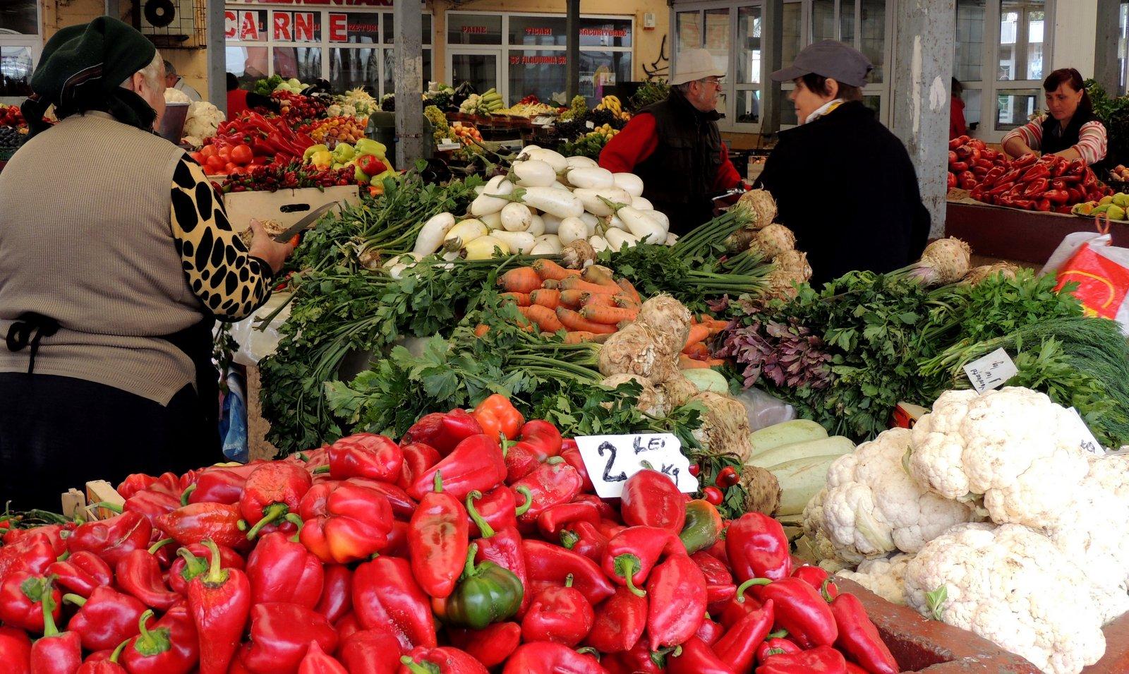 Markt in Rasnov - Rumänien