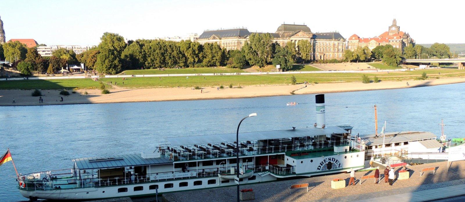 Die Elbe bei Dresden