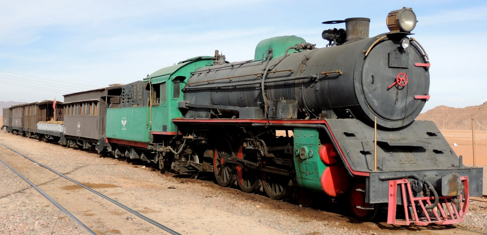 Zug der Hedschas-Bahn in Jordanien