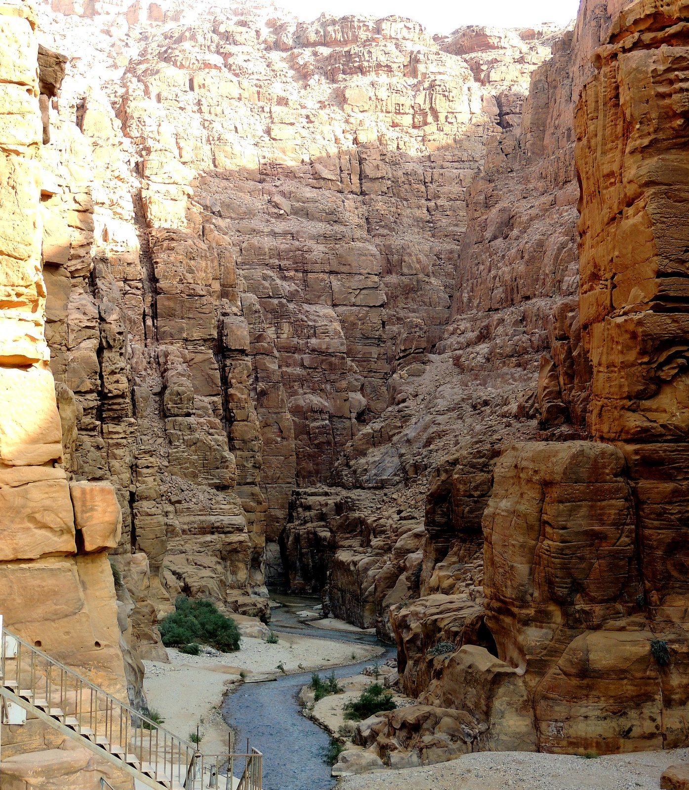 Schlucht des Mujib Rivers in Jordanien