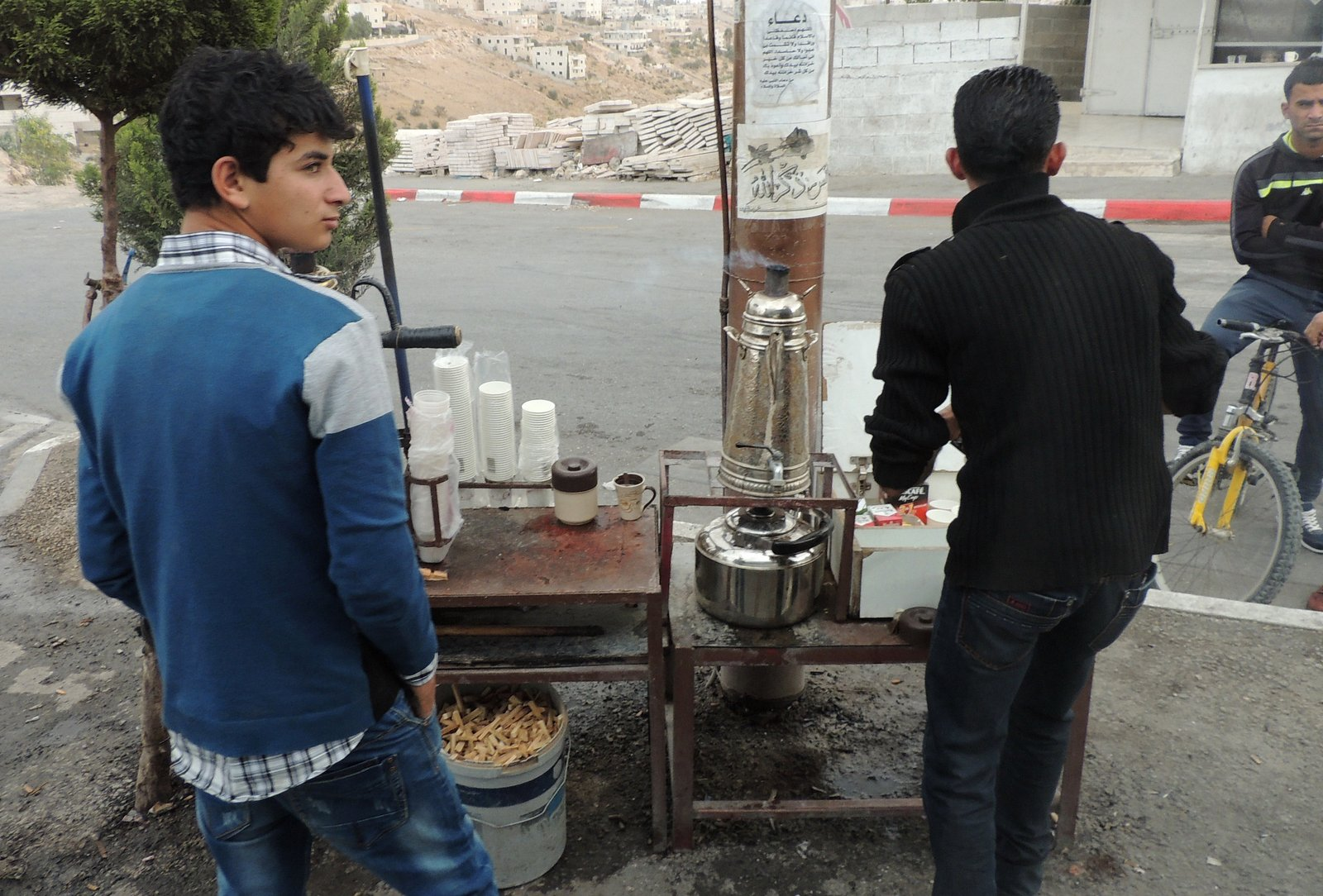 coffee and tea to go -Palestine style