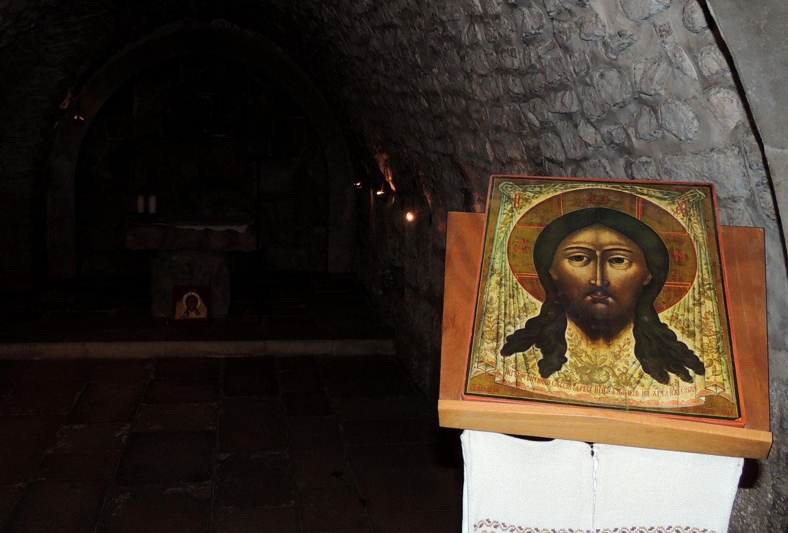 Veronika reicht Jesus das Schweißtuch - 6. Station - Via Dolorosa Jerusalem