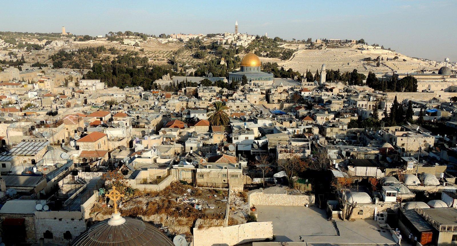 Jerusalem vom Turm der Erlöserkirche