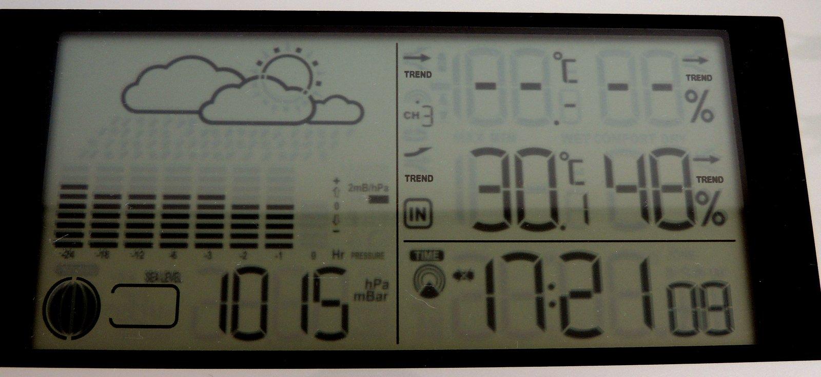 30,1 ° an der Nordsee um 17:21 Uhr