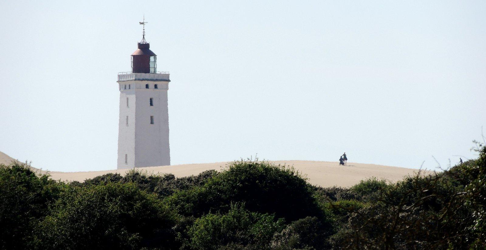 versandeter Leuchtturm in Jütland - Dänemark
