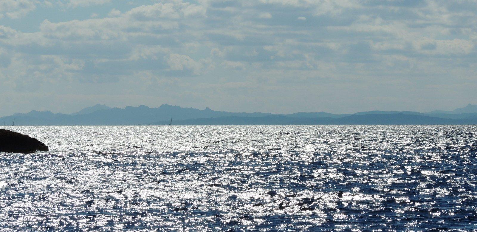 Blick auf Sardinien