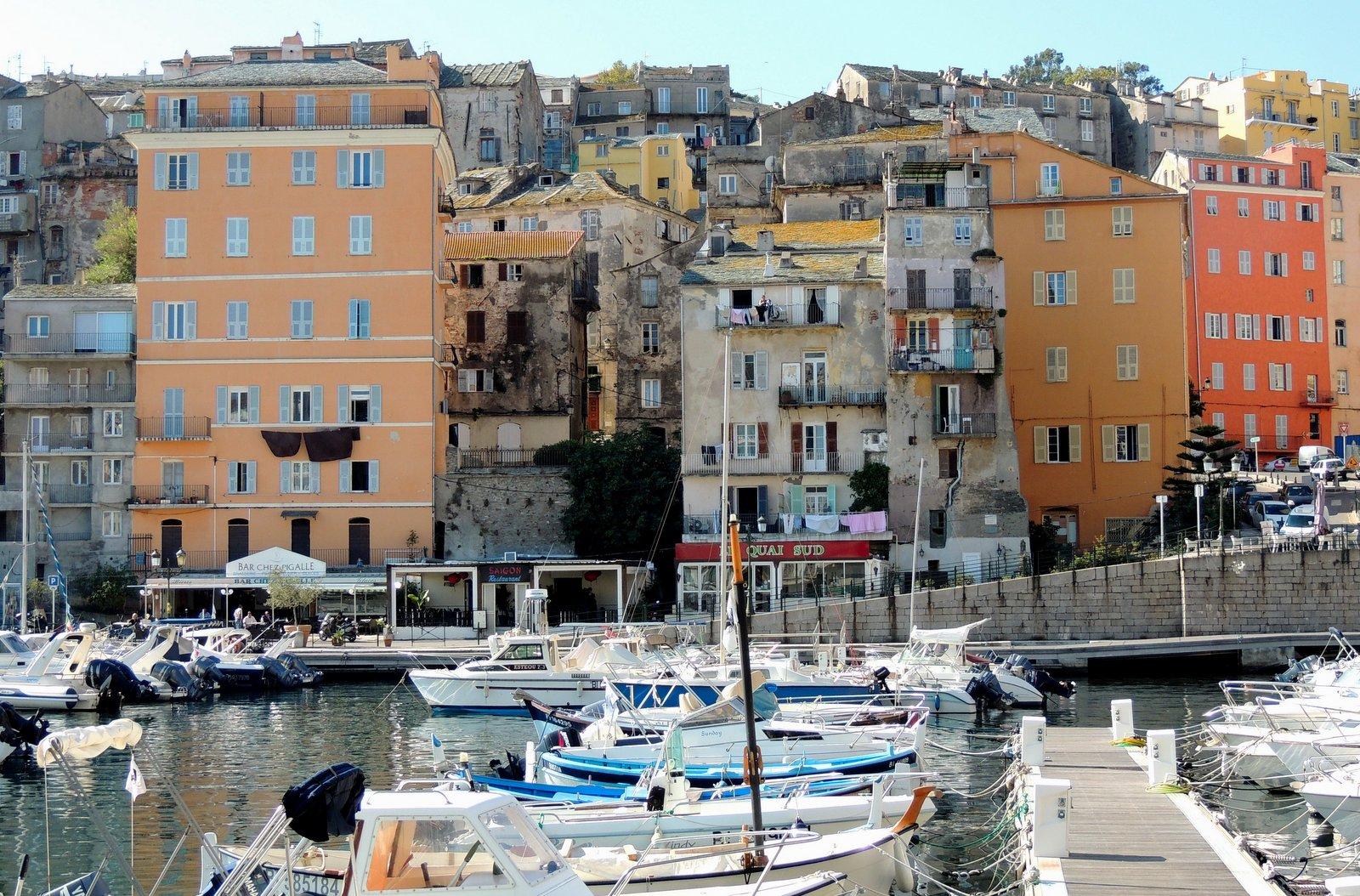 Alter Hafen von Bastia auf Korsika