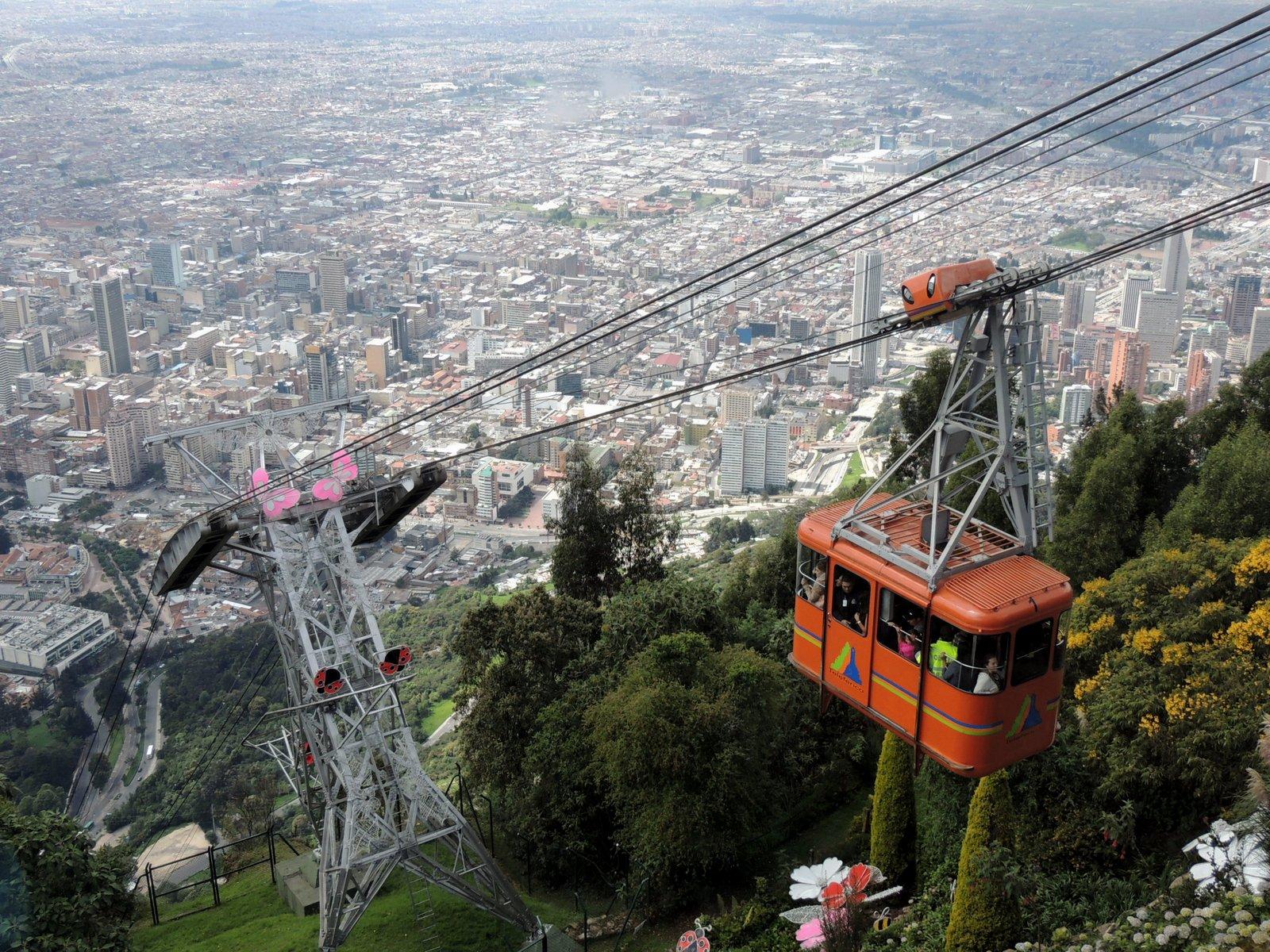 Bergbahn Monserrate Bogota Kolumbien