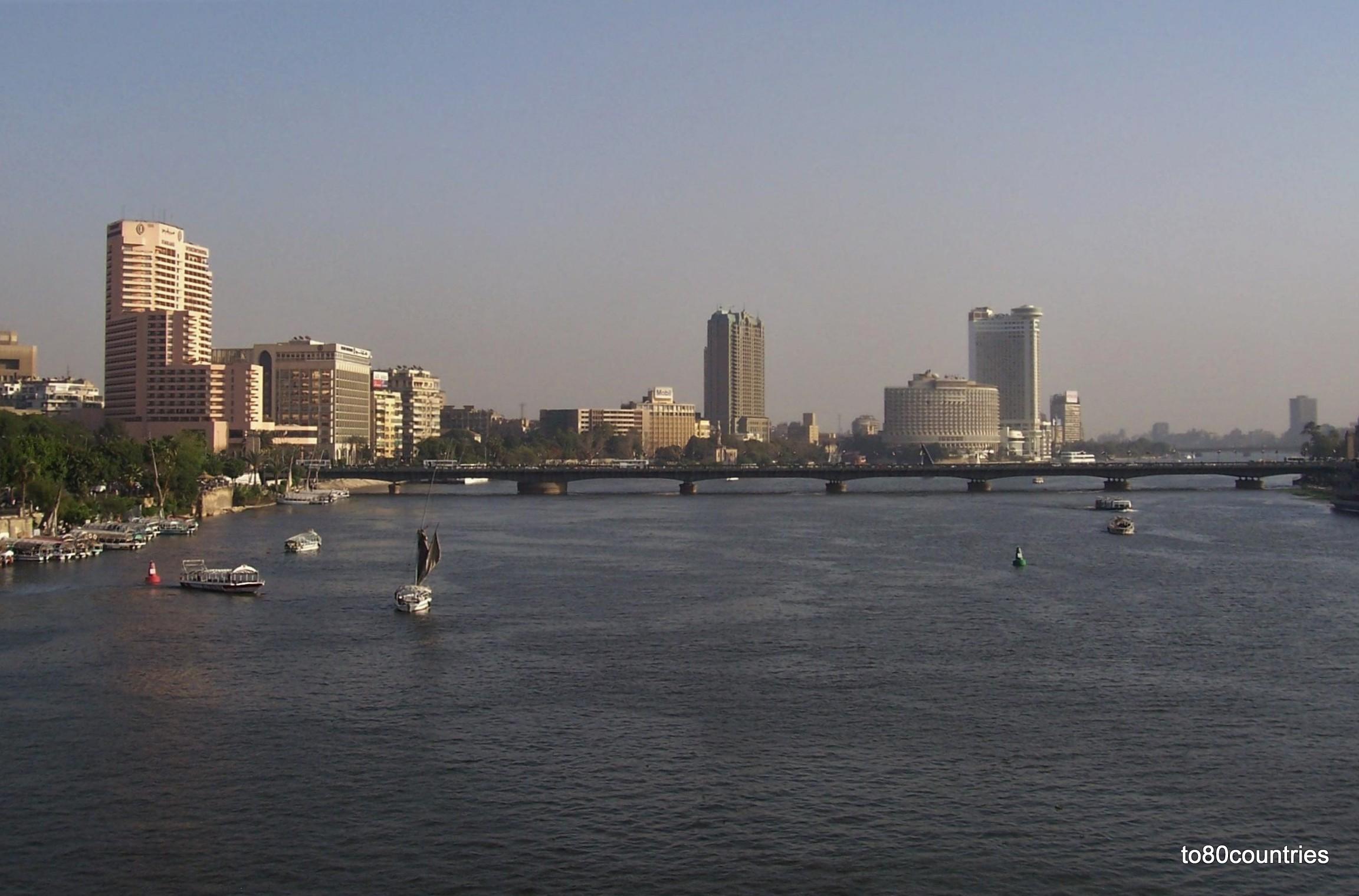 Kairo - Hochhäuser am Nil