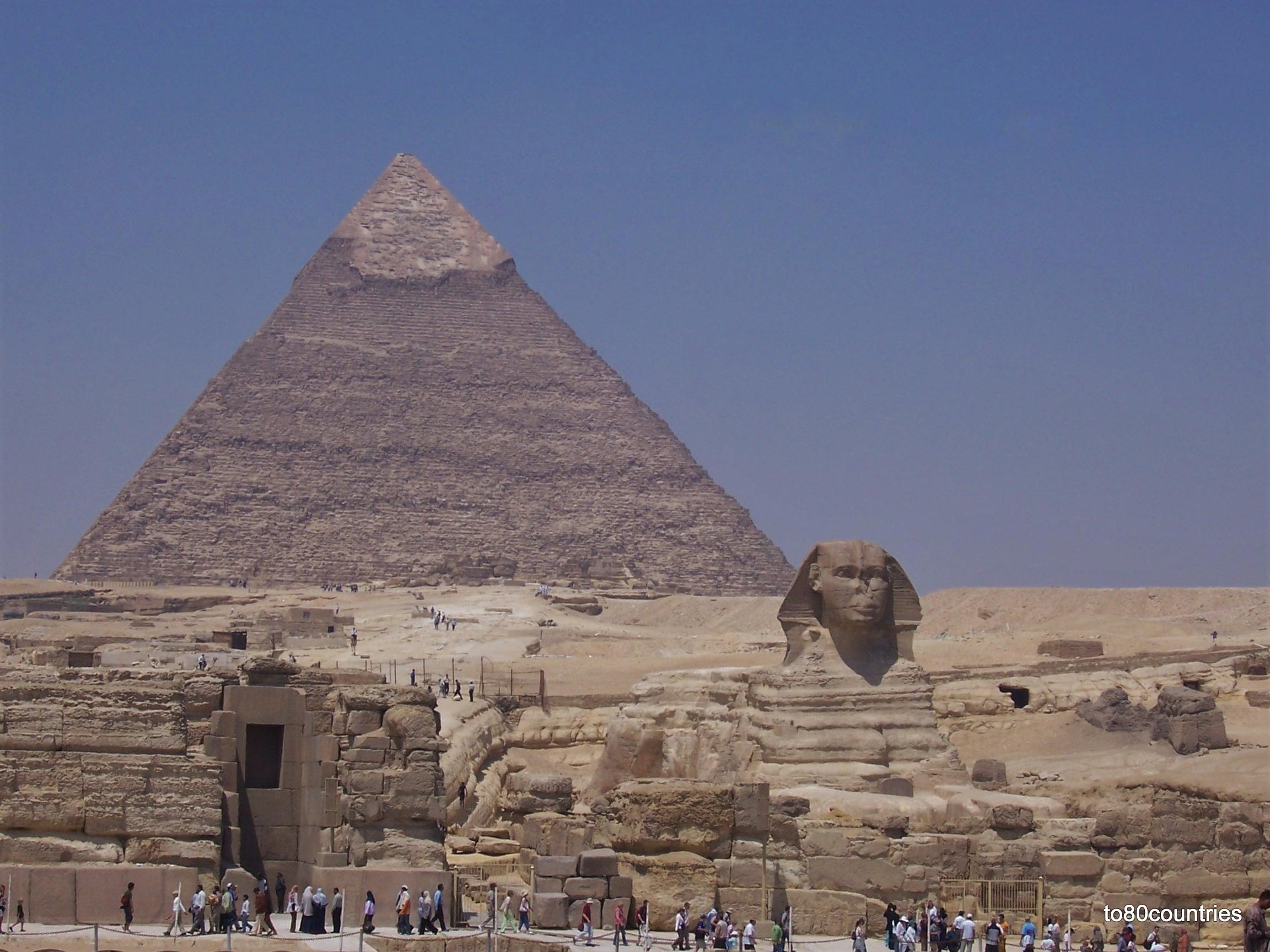 Chephrenpyramide von Gizeh - Großraum Kairo