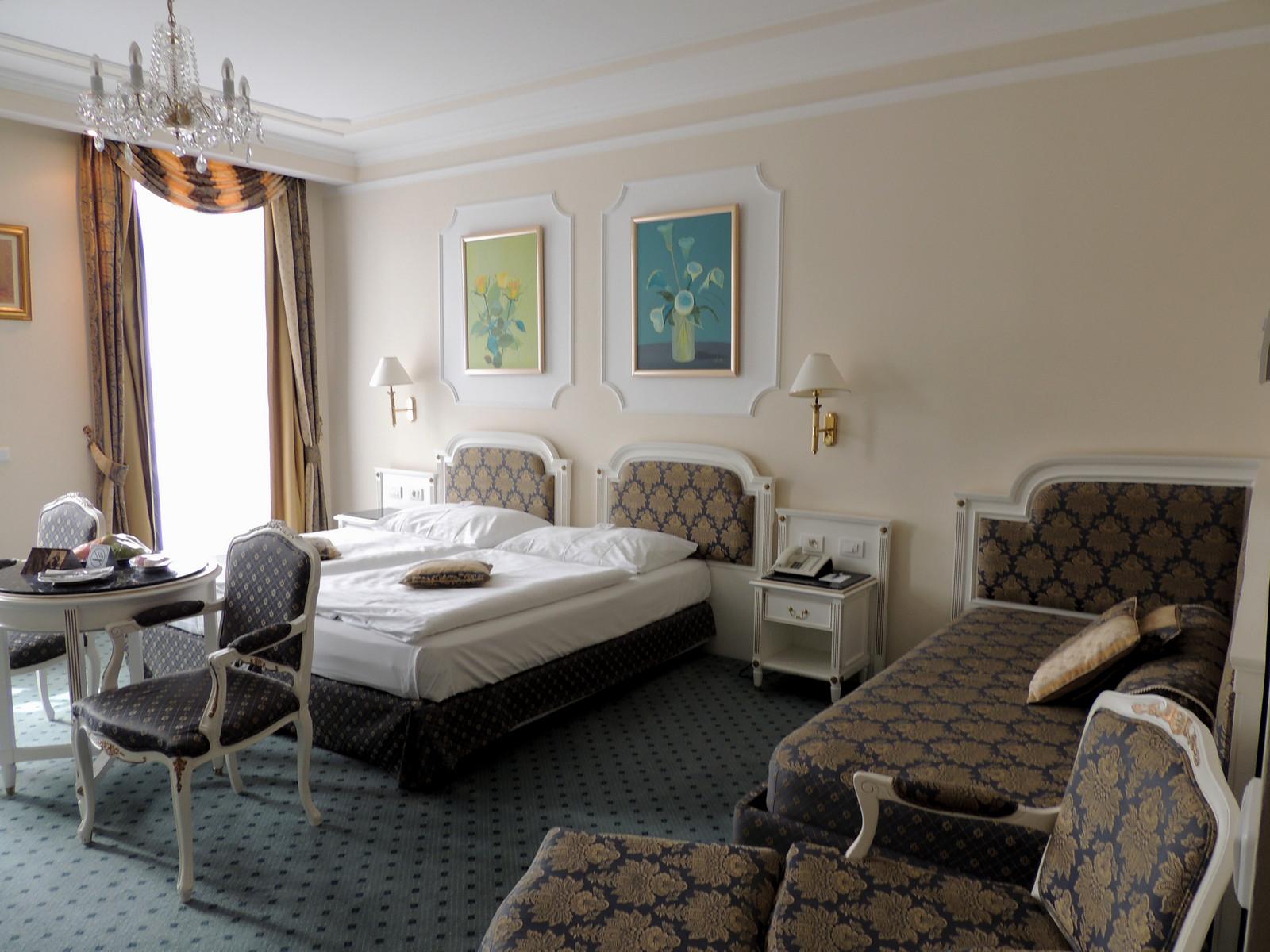 Unser Zimmer im Hotel Esplanade in Marienbad