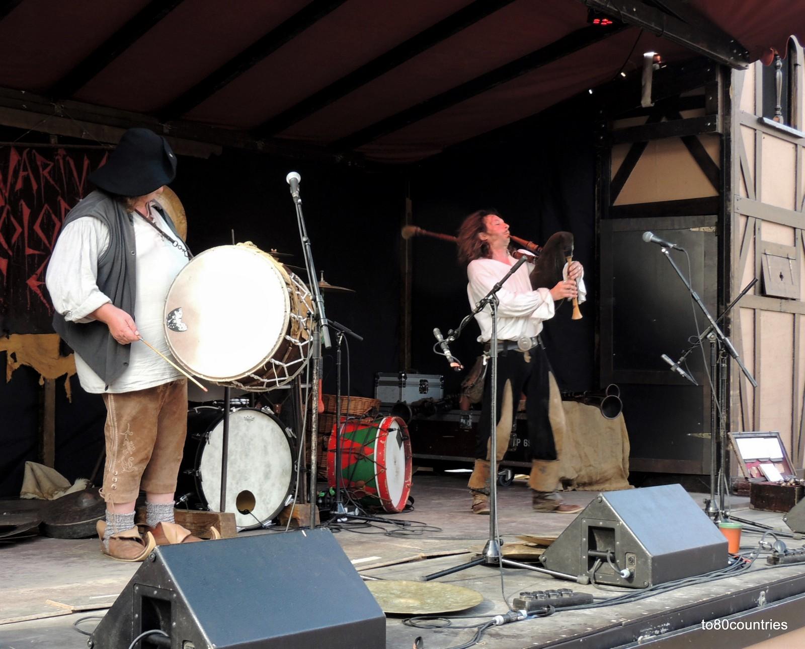 Dudelsack und Trommel auf dem Alter Markt Stralsund