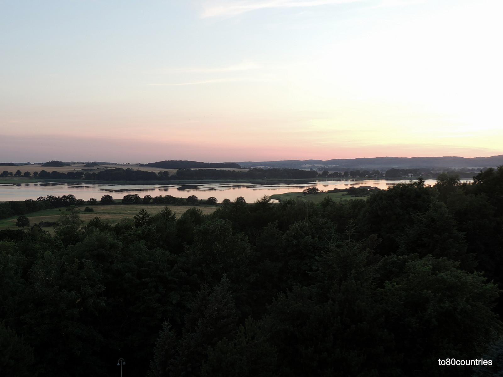 Usedom und Rügen - Cliffhotel Sellin - Zimmerausblick bei Sonnenuntergang auf das Mönchgut