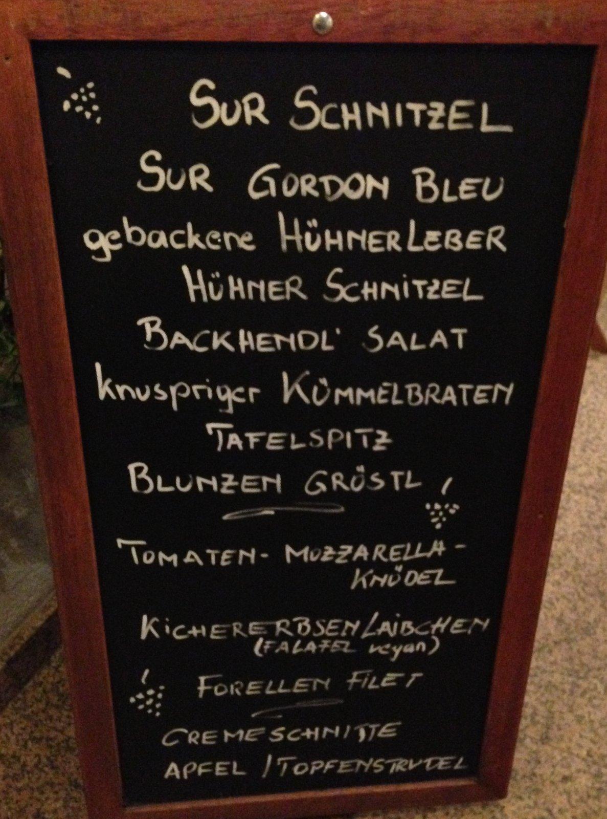 Heurigen-Angebot Gumpoldskirchen