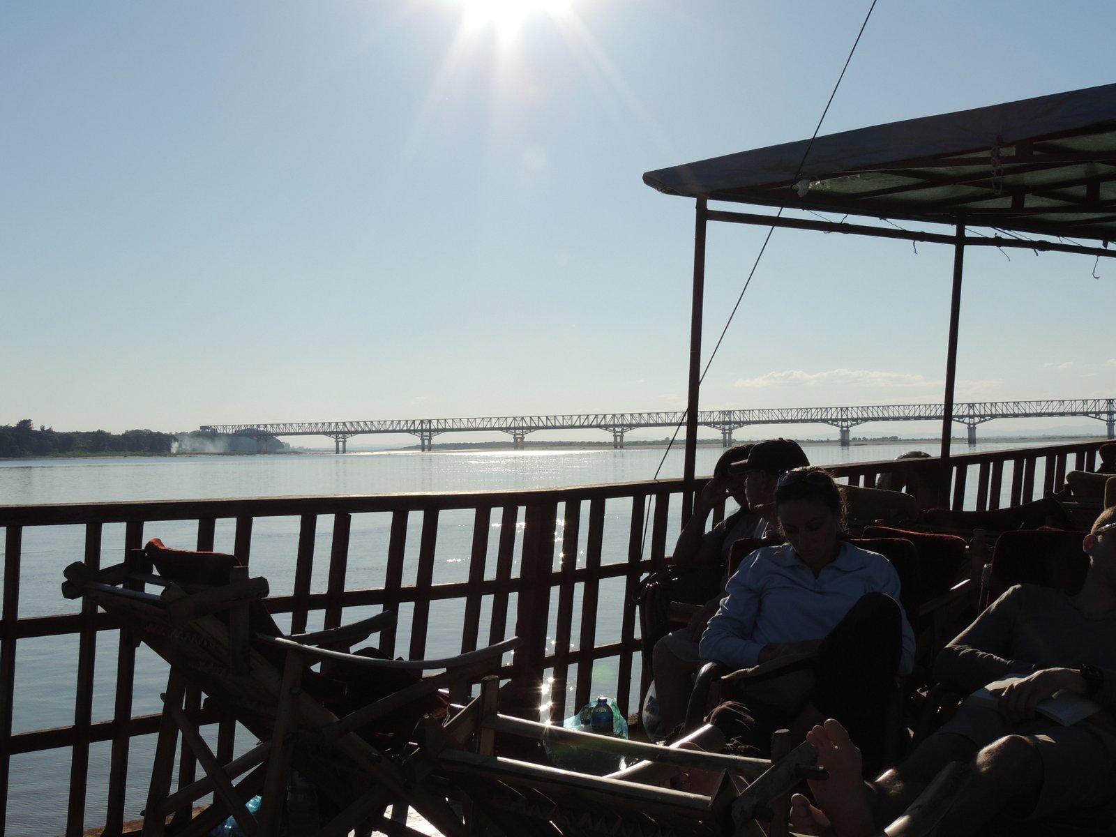 Auf dem Irrawaddy kurz vor Bagan