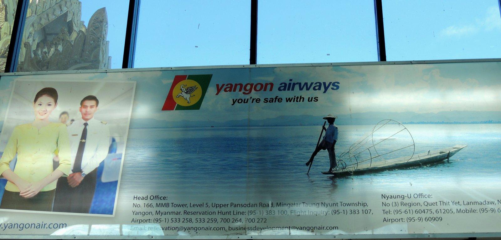 Am Flughafen in Nyaung U